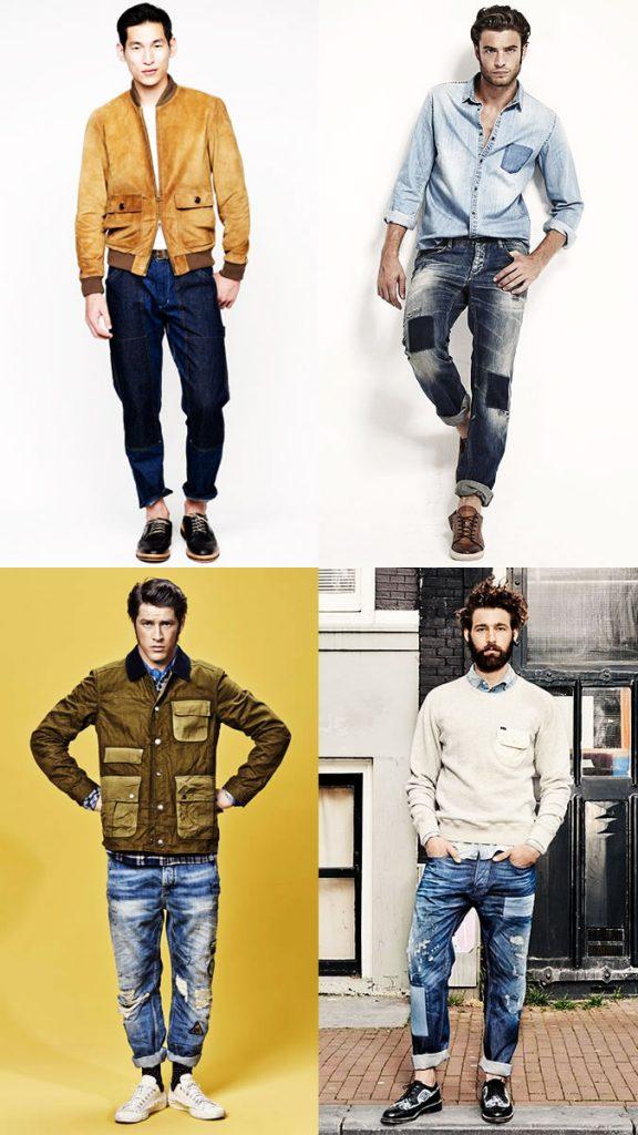 фото - мужские джинсы в моде 2016-2017