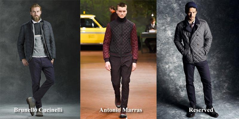 фото - стеганные мужские куртки в моде осенью 2016