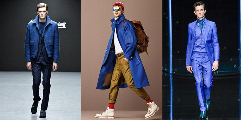 фото - цвет Индиго в мужской одежде 2016-2017