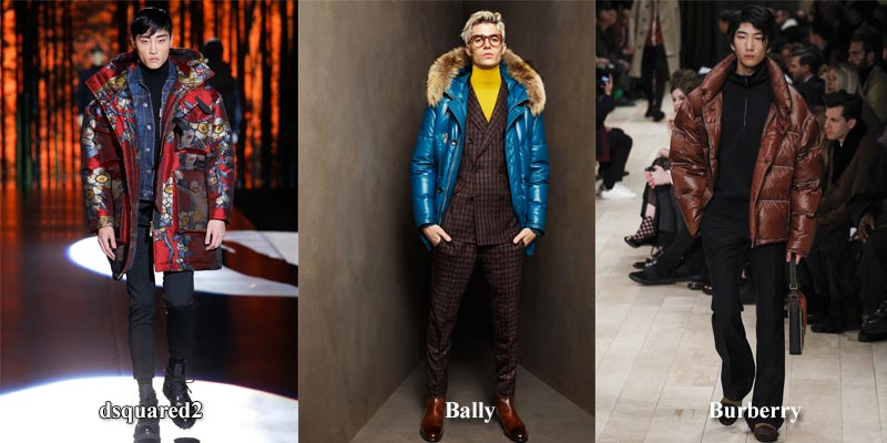 фото - яркие мужские куртки-пуховики зима 2017