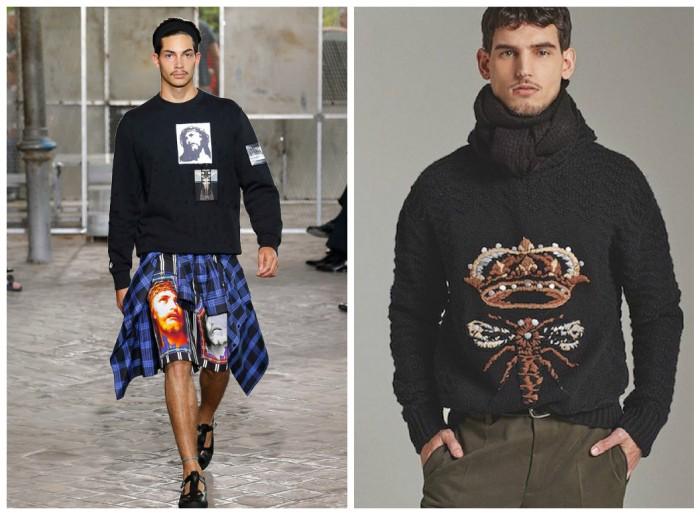 фото - мужские наряды от Givenchy и Dolce&Gabbana