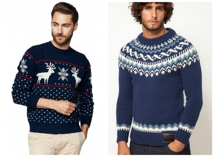 фото - мужские свитера с осенним принтом
