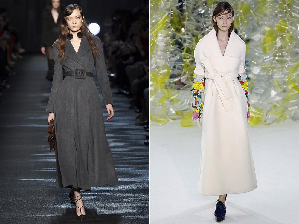 фото - длинные женские пальто 2016