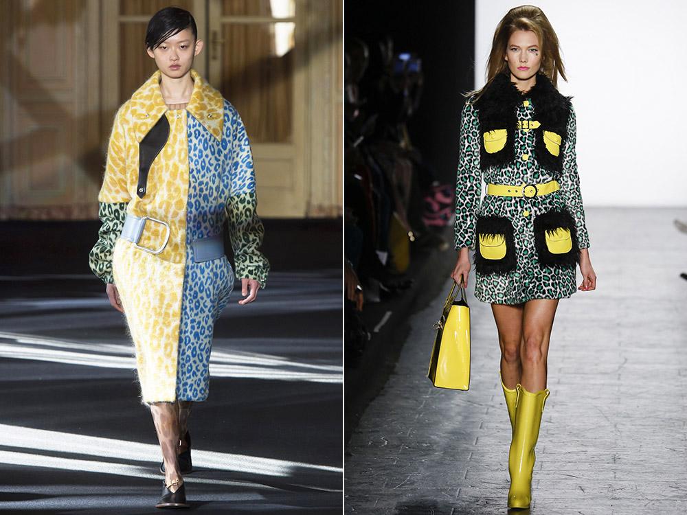 фото - леопардовый принт разных оттенков в моде осенью 2016