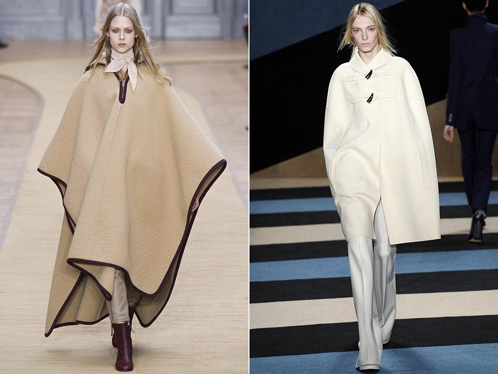 фото - женские пальто-пончо в моде fall-winter 2016-2017