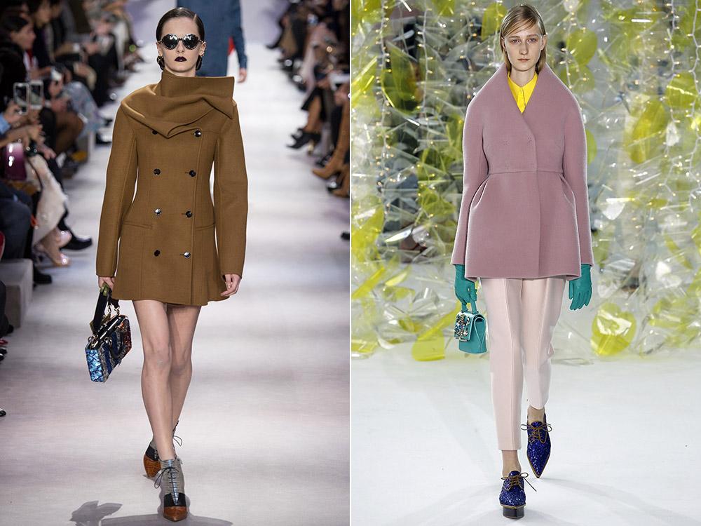 160089ba9d3 Короткие двубортные пальто в моде осень-зима 2016-2017