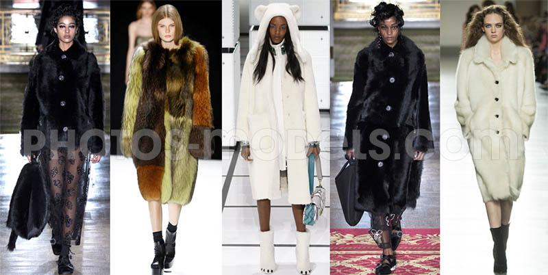 фото - Зимняя женская мода осень-зима 2016-2017, шубки и полушубки
