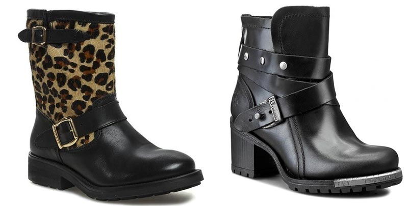 фото - женские ботинки с леопардового цвета