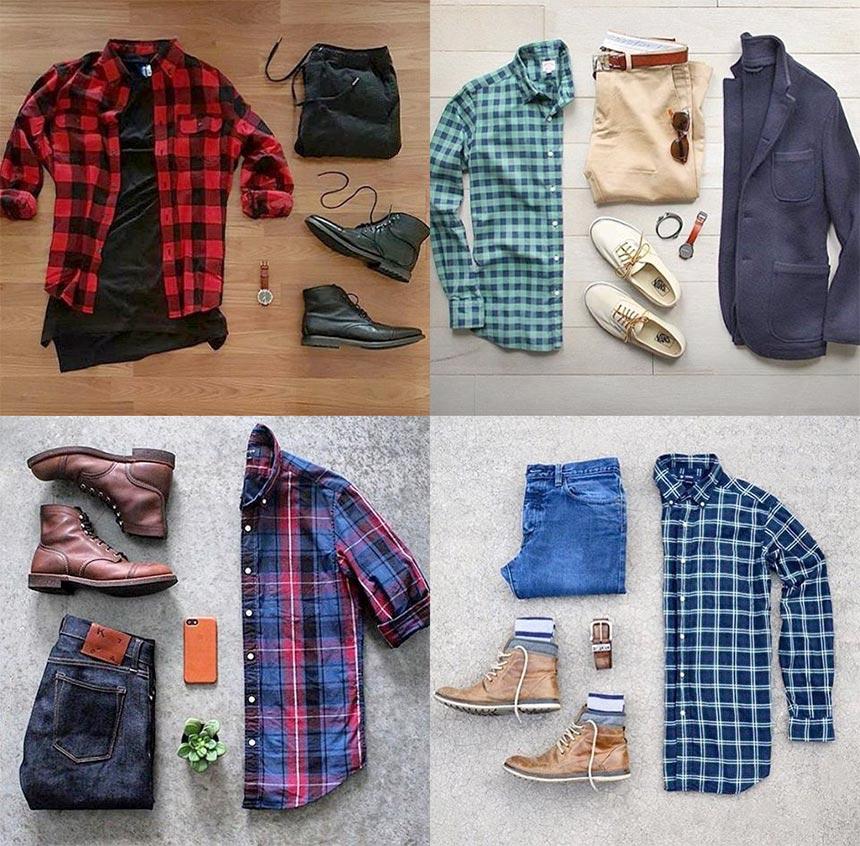 фото - Модный мужской лук №2: рубашка в клетку и джинсы