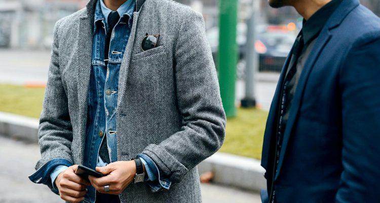 фото - мужская джинсовая куртка: с чем носить