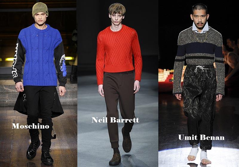 фото - яркий трикотаж в моде зимой 2017: мужская мода