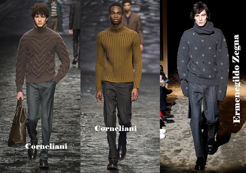 фото - свитера с горлом умеренных оттенков в моде для деловых мужчин этой зимой