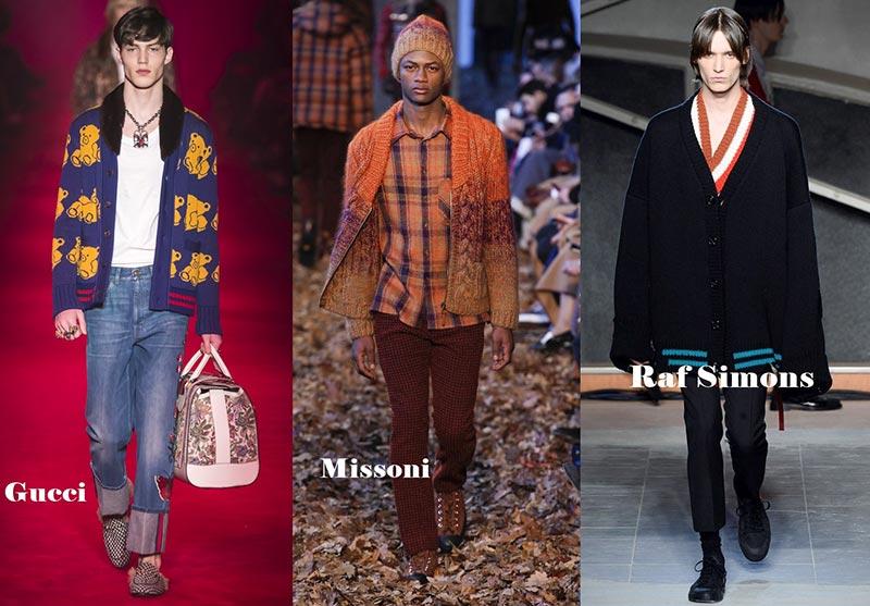 фото - Мужские кардиганы в моде зимой 2017