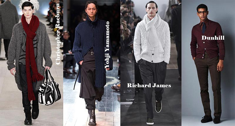 фото - Мужские кофты в моде зимой 2017