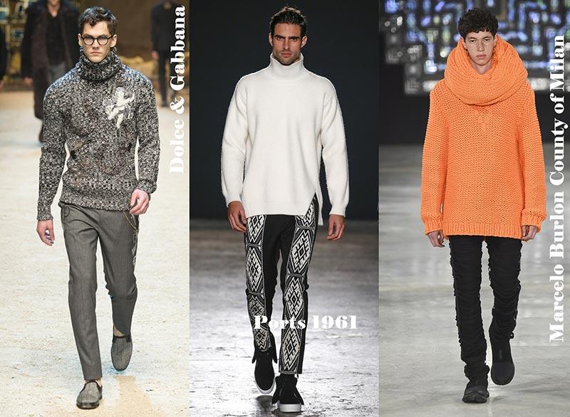 фото - Модные мужские свитера с горлом зима 2017