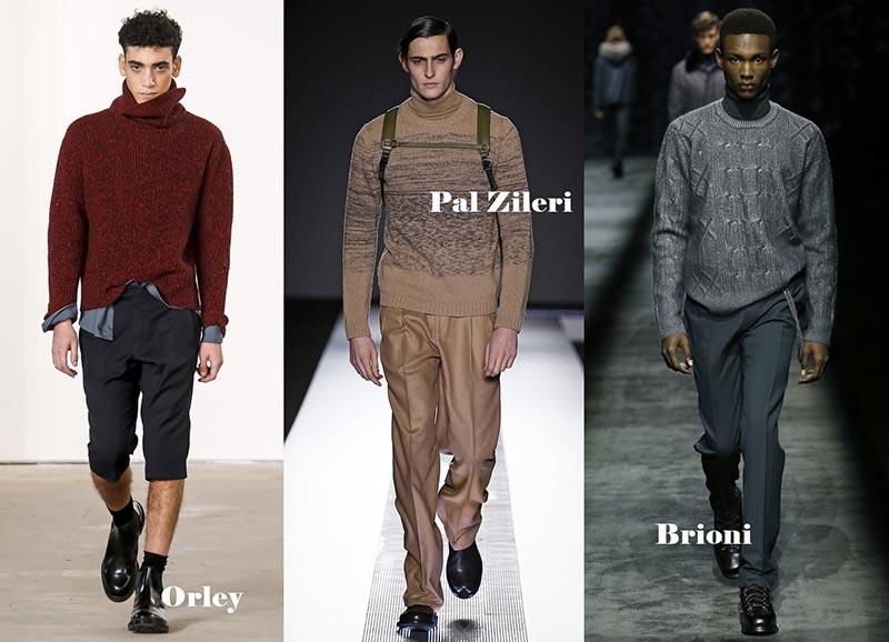 фото - модные свитера под горло для мужчин