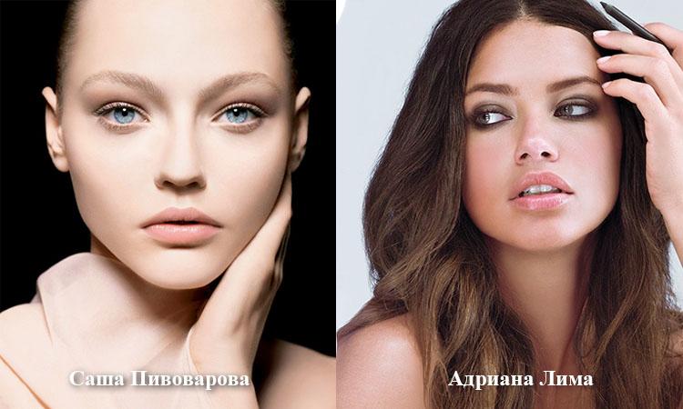 Модели: Саша Пивоварова и Адриана Лима