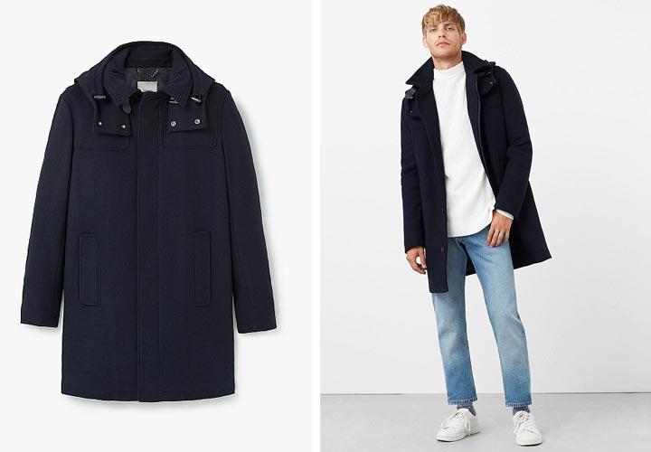 мужская зимняя куртка от Mango Man