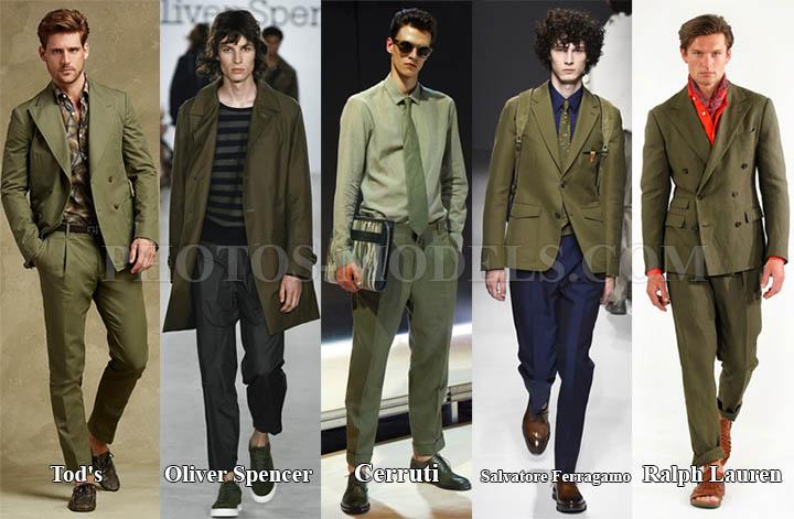 Оттенок Хаки в мужской летней моде 2017