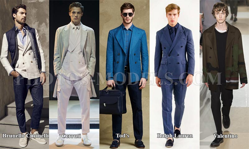Мужской двубортный пиджак 2017