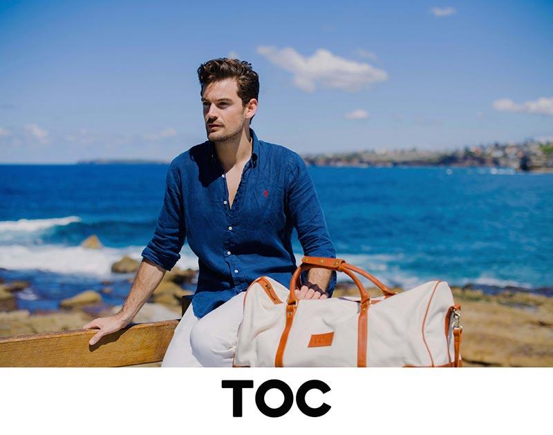 Томми в рекламе мужских сумок TOC