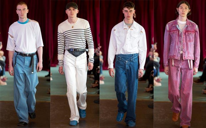 Просторные джинсы
