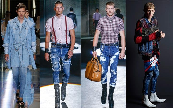 Скинни-джинсы мужские 2017