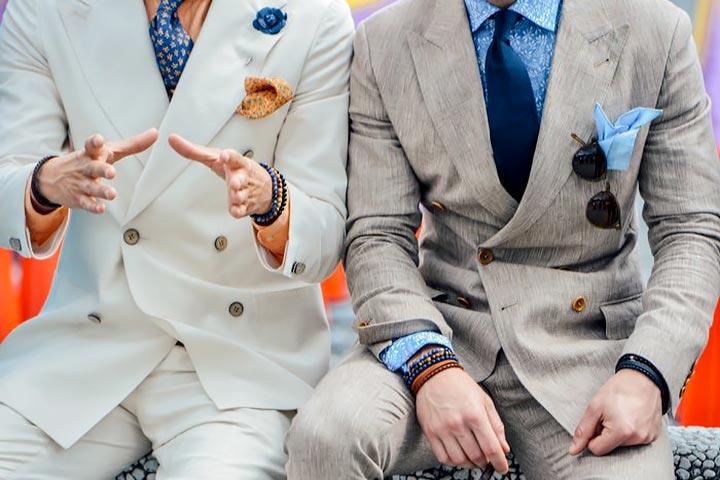 Нагрудный платок в мужском гардеробе