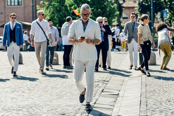 Кремовый цвет в мужской моде 2017
