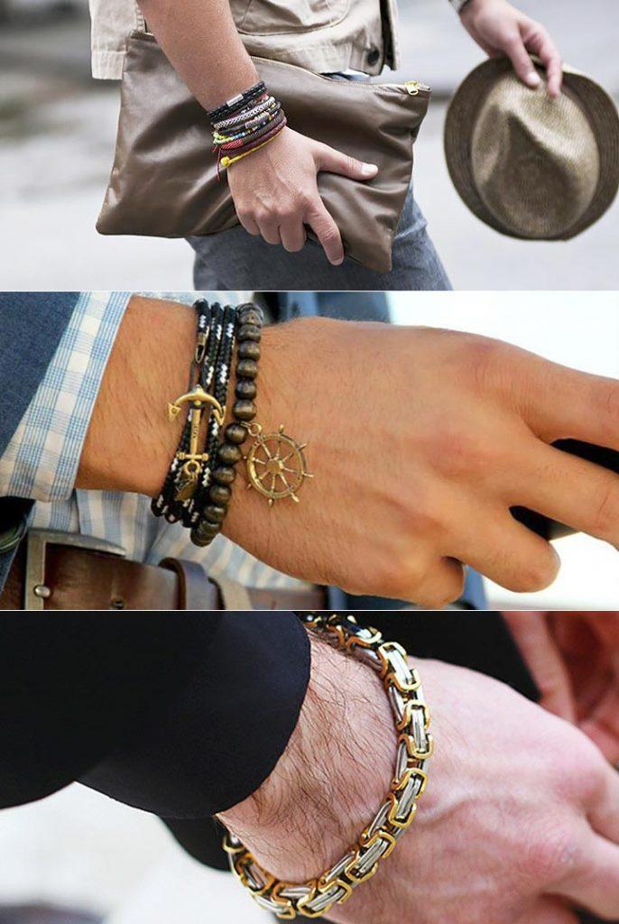 Мужские браслеты в моде 2017 фото