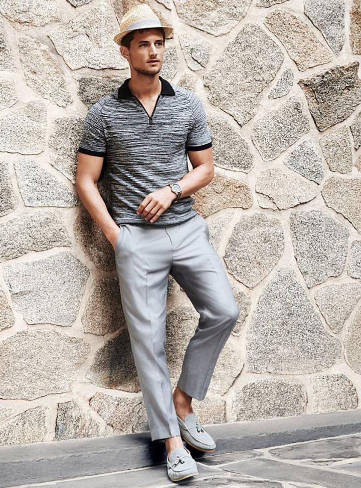 Стильный мужской образ в стиле смарт-кэжуал на весну 2017 фото