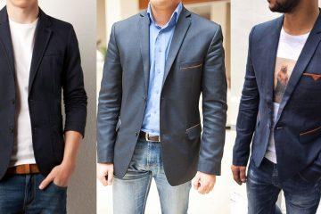 Мужской пиджак под джинсы - с чем носить