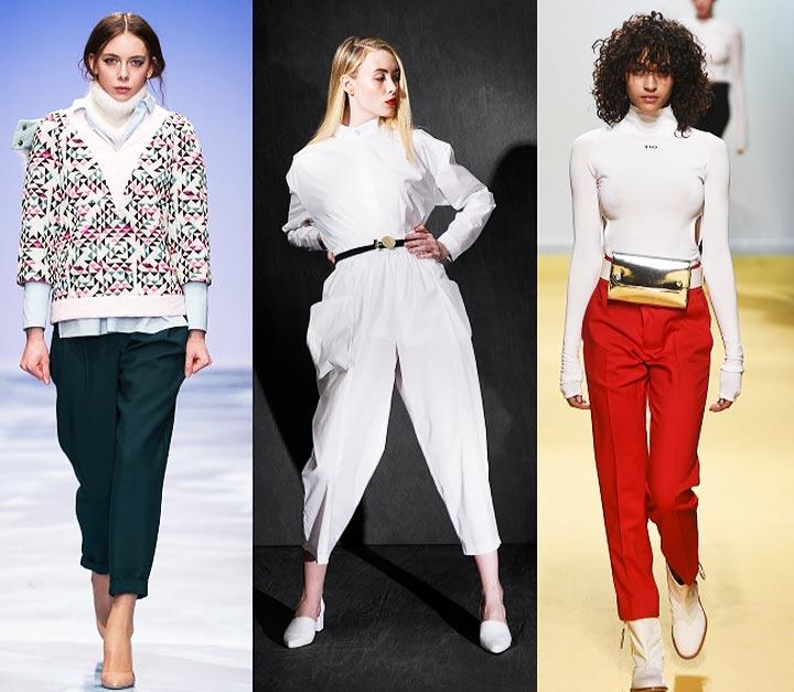 Модные укороченные брюки весной и летом 2017 тенденции