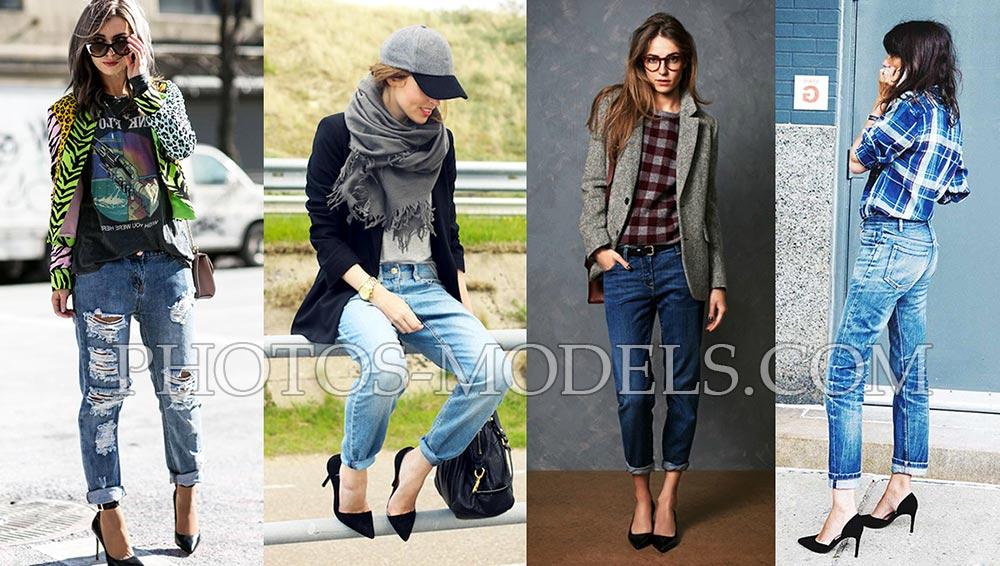 Как носить джинсы бойфренда с пиджаком или жакетом фото примеры