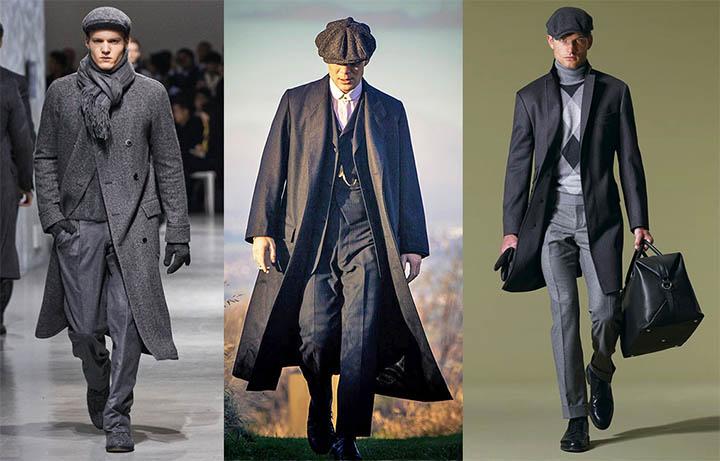 Мужчины в пальто и кепке