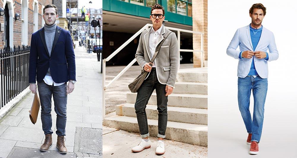 правильные цвета пиджака и джинсов фото