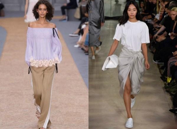 Просторные футболки и топы в моде летом 2017 фото