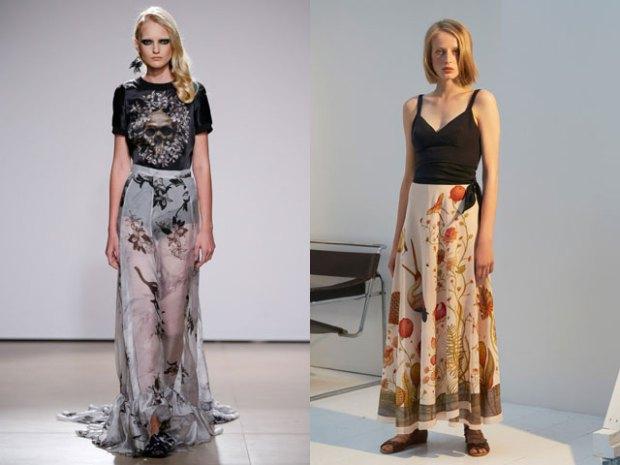 Юбки макси в моде весной и летом 2017 смотреть фото