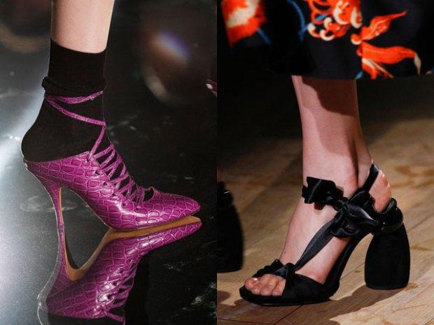 Модные туфли на высоком каблуке весна-лето 2017 фото тенденции