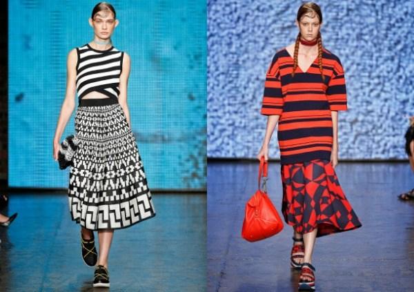 Женские футболки в полоску мода весна-лето 2017 фото тенденции