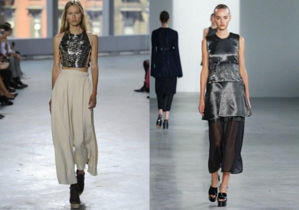 Топы из сверкающих тканей в моде летом 2017