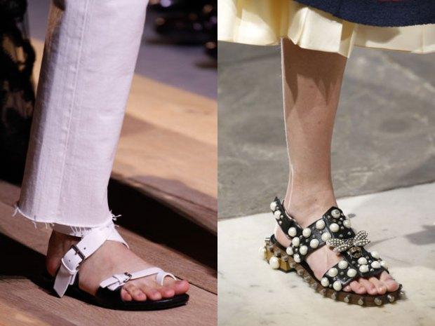 Сандалии в моде весна-лето 2017 фото тенденции