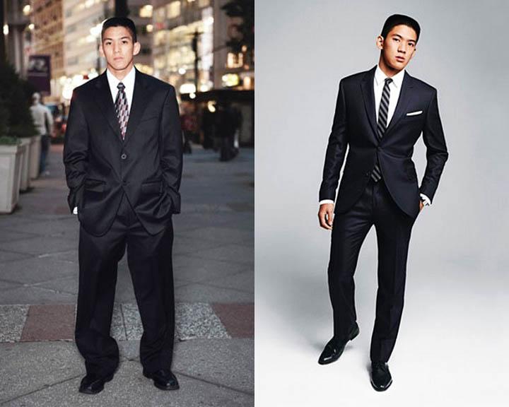 Мужской костюм не по размеру выглядит ужасно