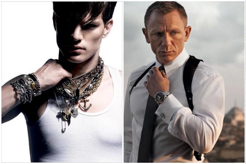 Мужчине не стоит обвешивать себя большим количеством браслетов и подвесок