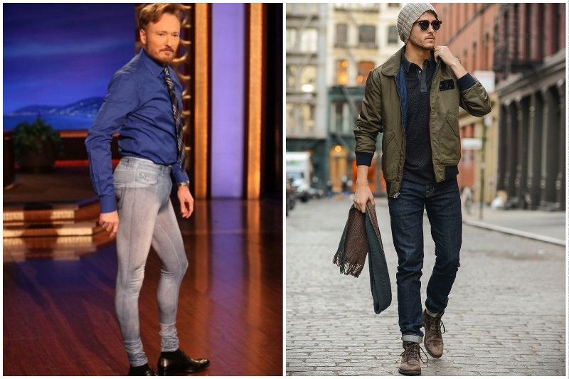 Мужчина в узких и тесных джинсах - просто смешон