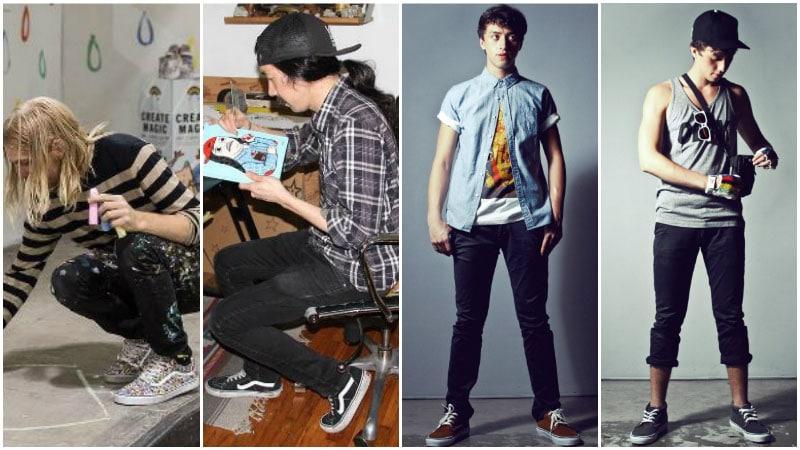 стильные луки: мужчины в кедах ванс фото