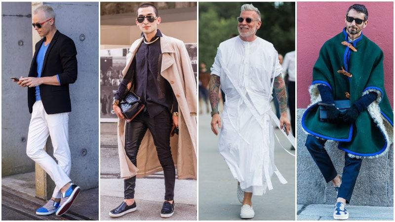 С чем носить Вансы слипоны фото уличной моды