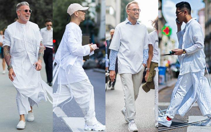 Мужская уличная мода 2017: белый цвет в тренде этим летом