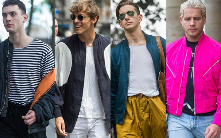 Куртки бомбер: мужская уличная мода 2017 лето