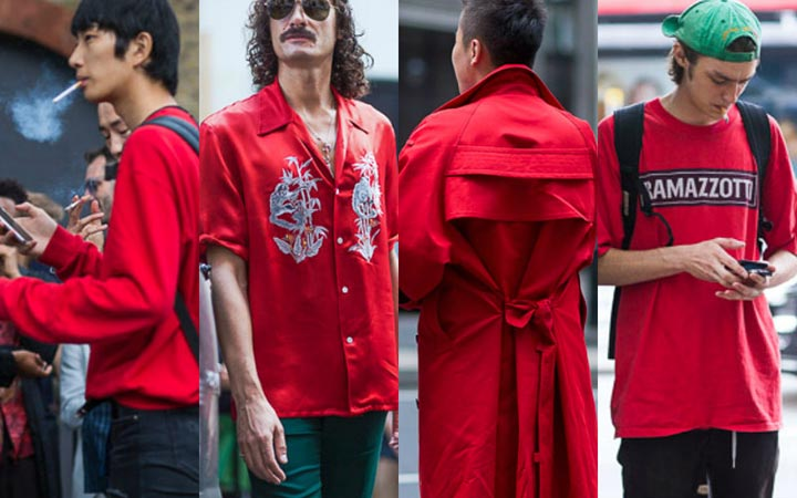 Красный цвет в моде летом 2017 смотреть картинки